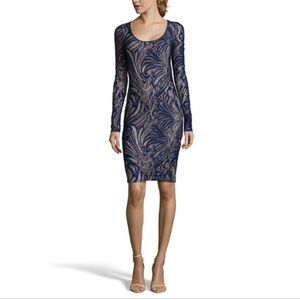 BCBG Max Azria Vivia Long Sleeve Lace Dress
